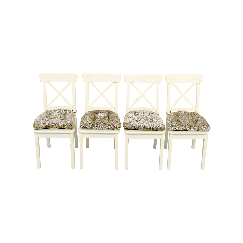 58 Off Ikea Ikea Ingolf Chair With Cushions Chairs