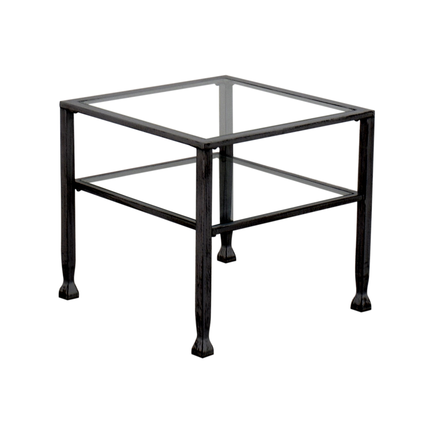 86 Off Glass And Steel Coffee Table Tables