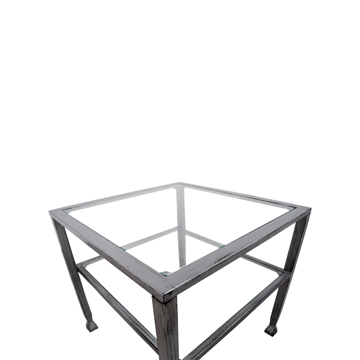 Glass And Steel Coffee Table / Tables