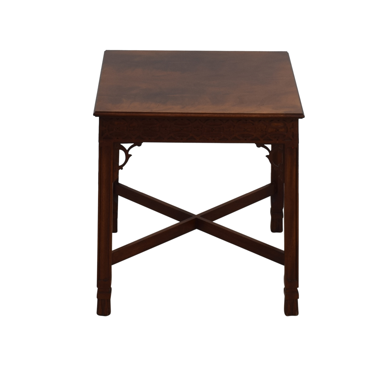 Antique Antique Wood Carved Side Table End Tables