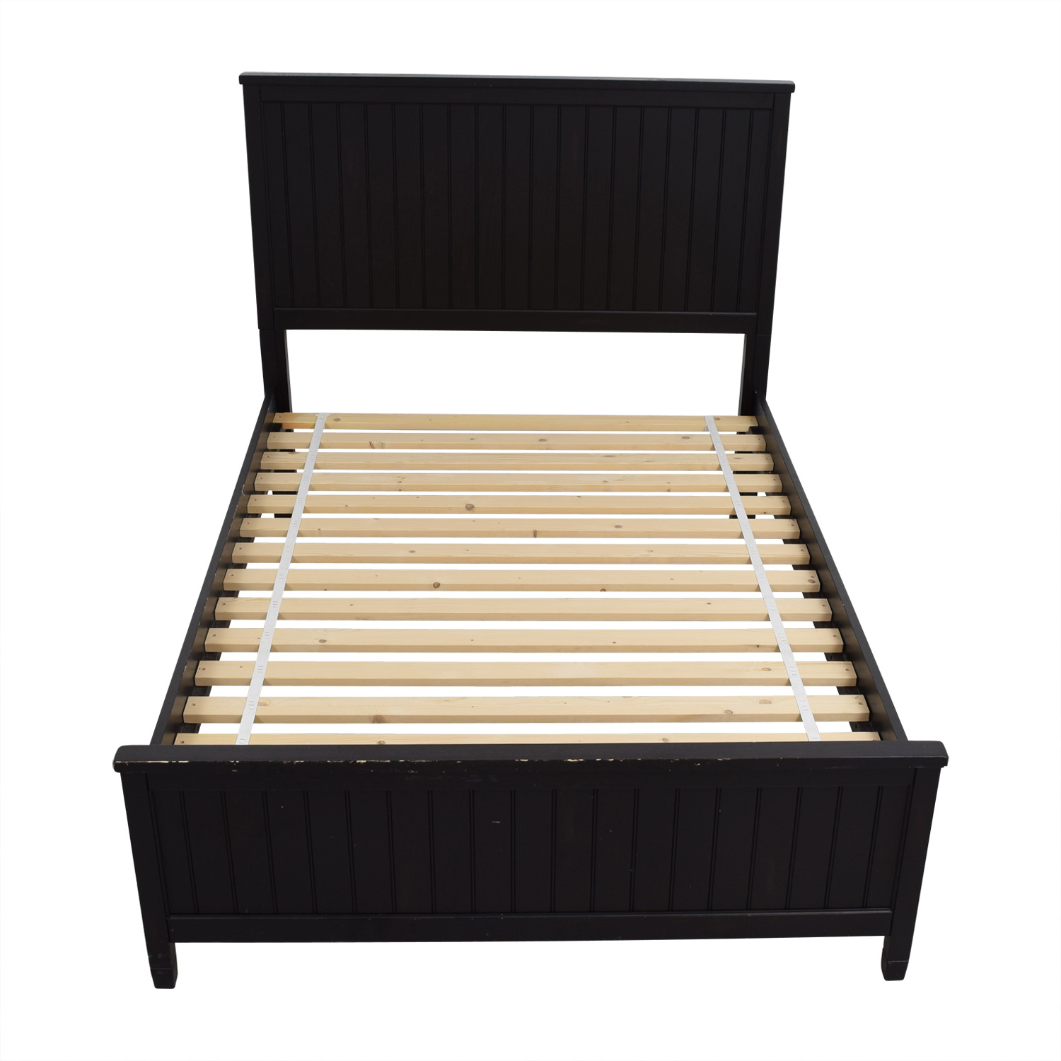 shop Pottery Barn Full Black Platform Bed Pottery Barn Bed Frames