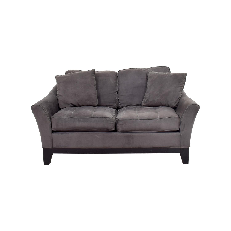 Raymour & Flanigan Raymour & Flanigan Rory Slate Microfiber Loveseat Sofa Sofas