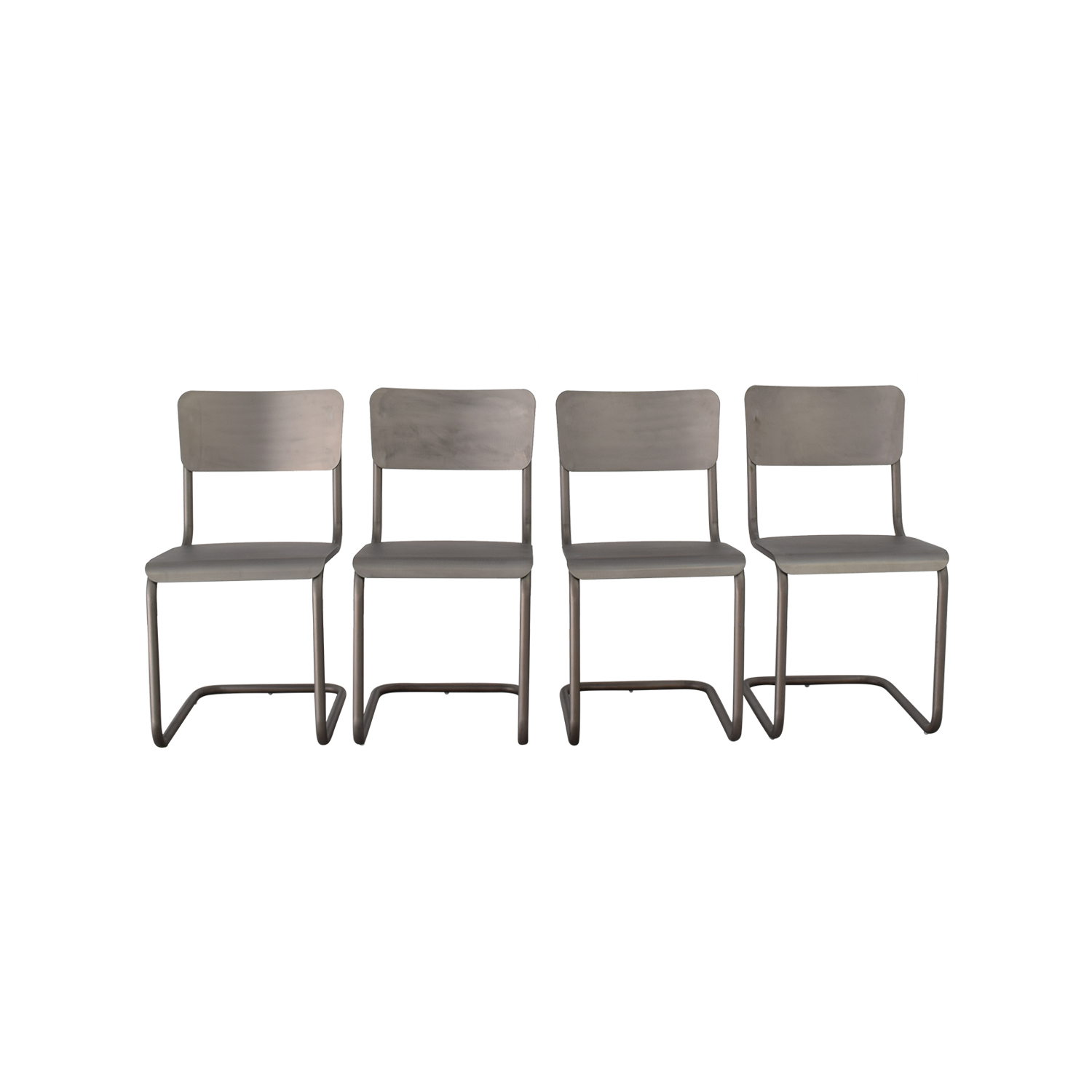 Restoration Hardware Restoration Hardware Metal Dining Chairs second hand