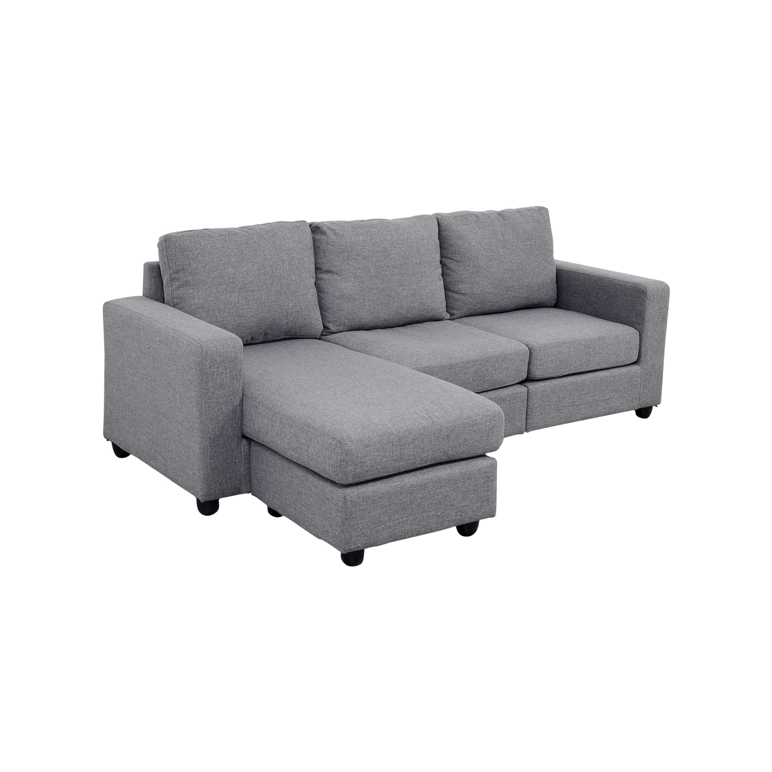second hand grey l shaped chaise couch