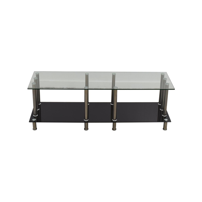 51 Off Global Furniture Global Furniture Glass Metal Tv Stand