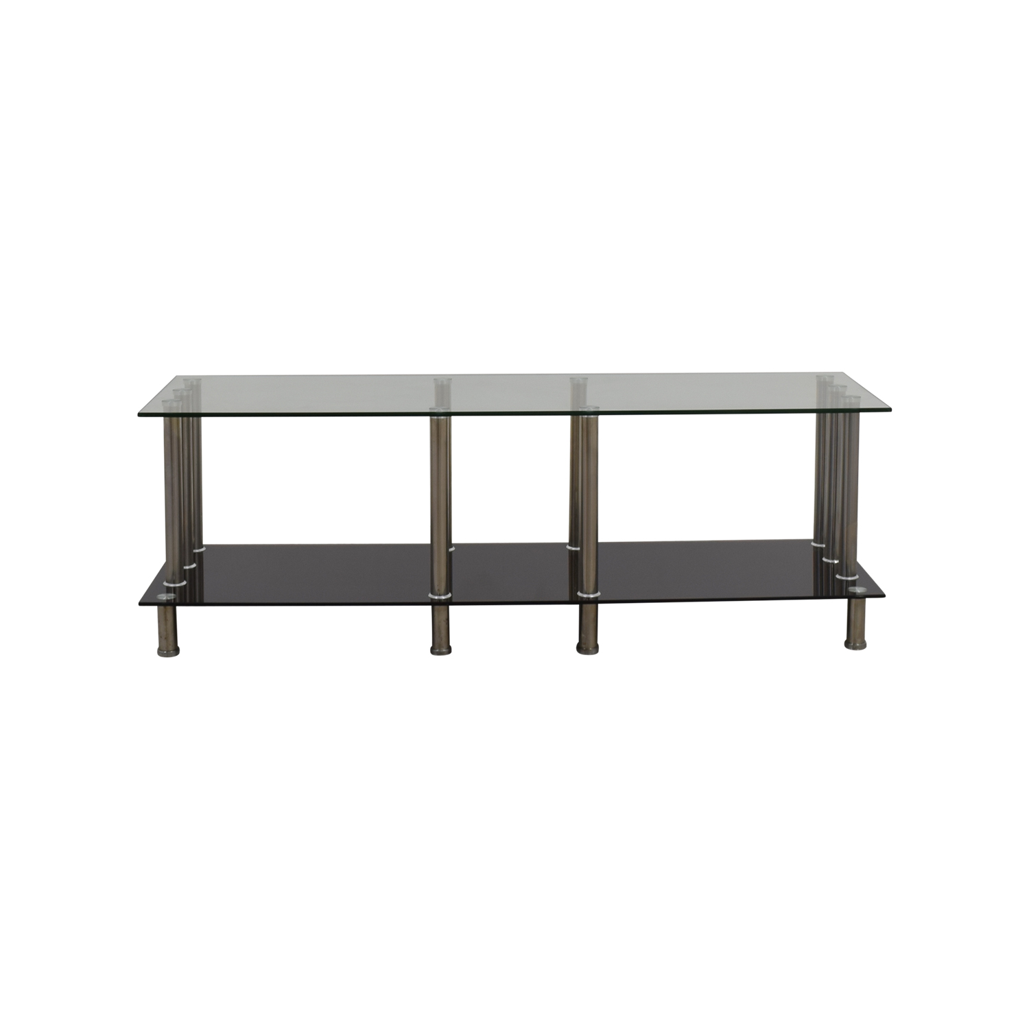 51 Off Global Furniture Global Furniture Glass Metal Tv Stand