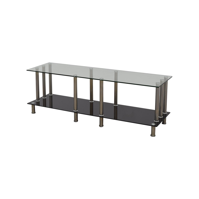 51% OFF Global Furniture Global Furniture Glass & Metal TV Stand