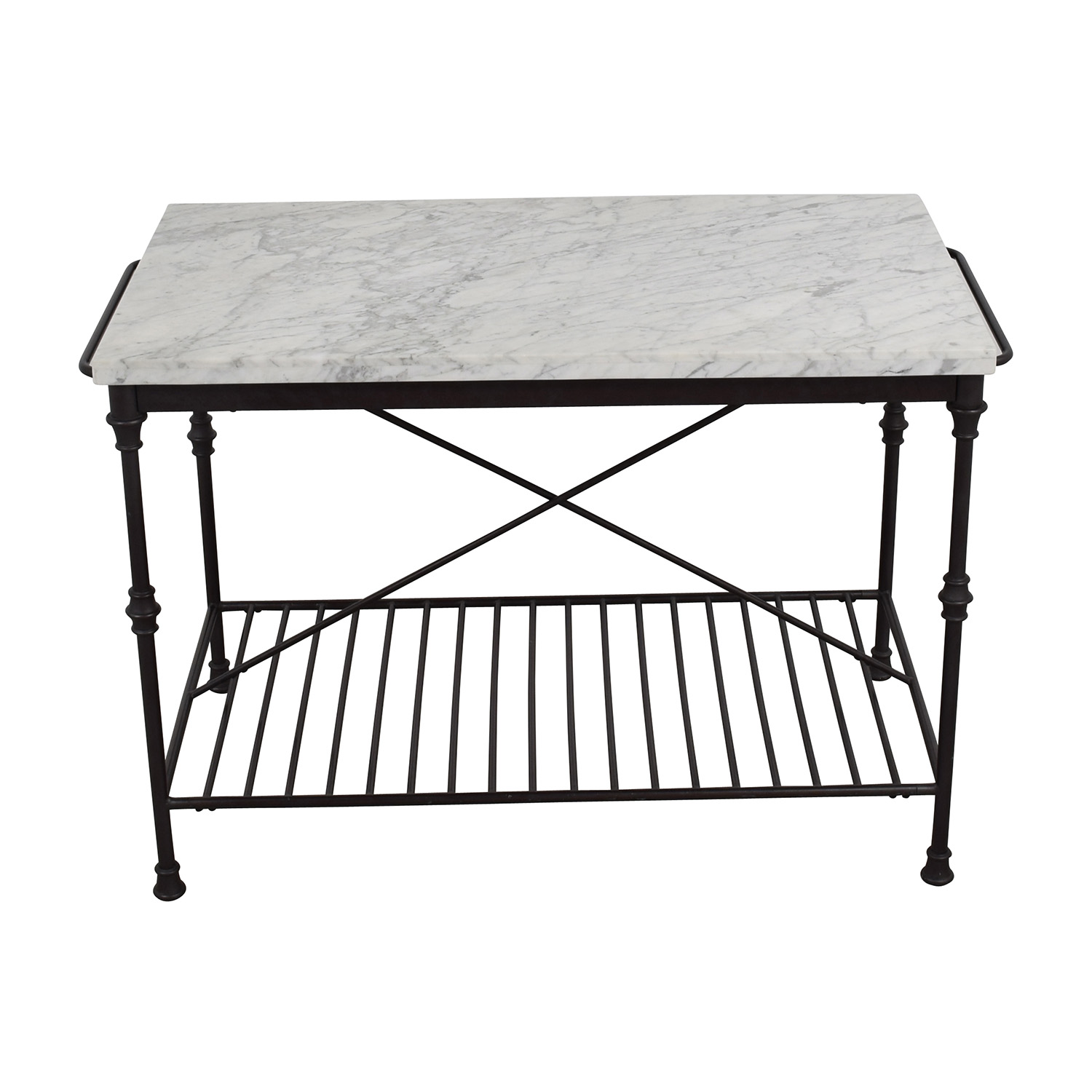 61% OFF - Crate & Barrel Crate & Barrel French Kitchen Island / Tables