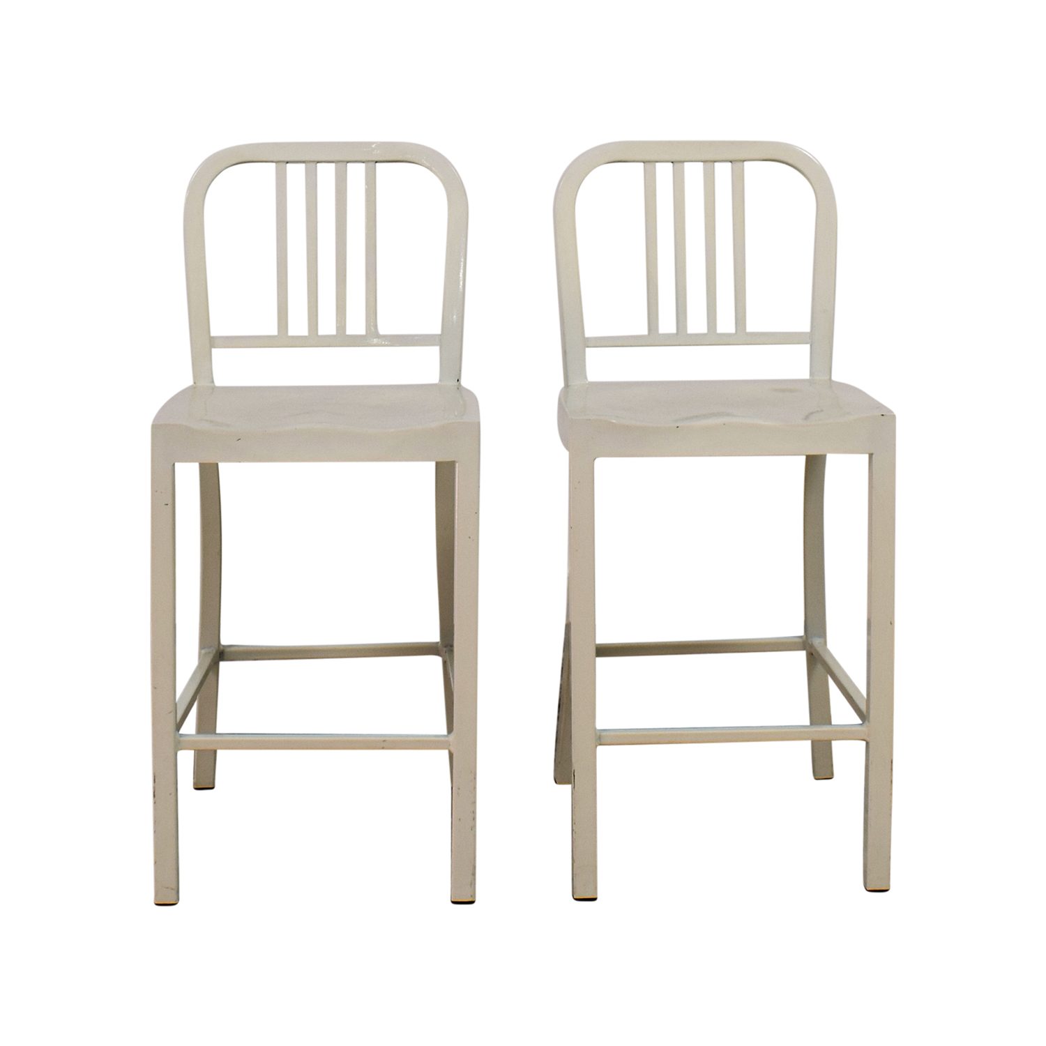 White Metal Chairs for sale