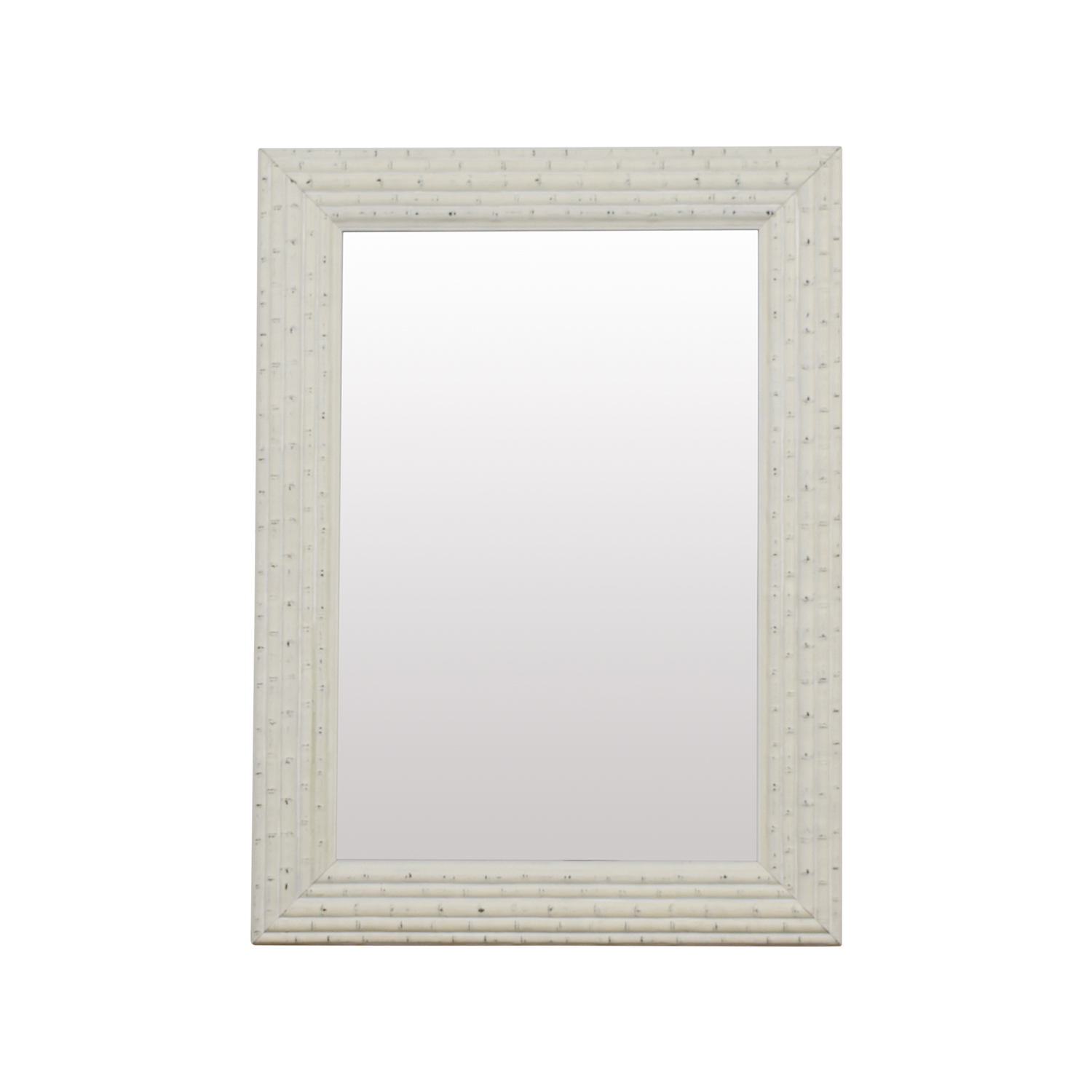 HomeGoods HomeGoods Large White Bamboo Mirror on sale