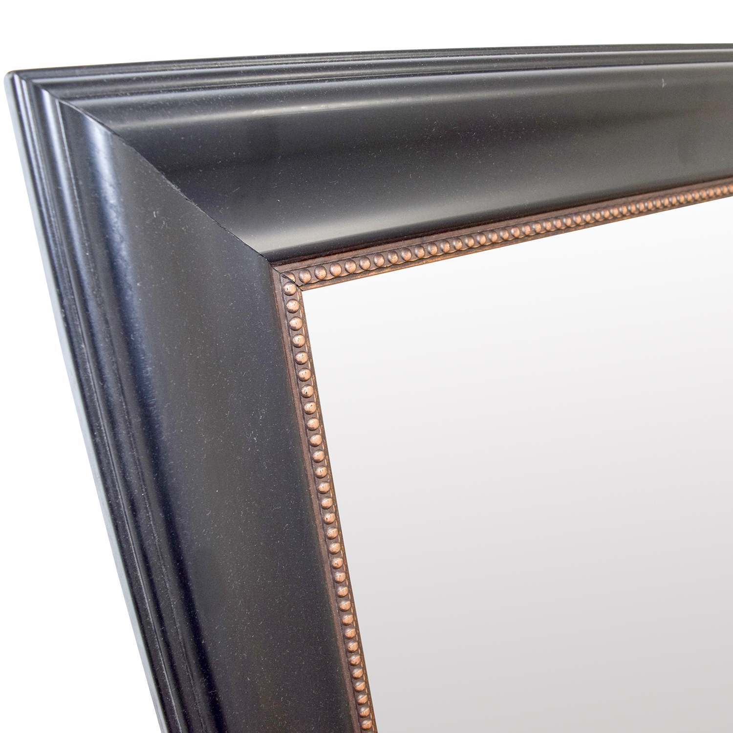 HomeGoods HomeGoods Black and Gold Beveled Mirror nyc