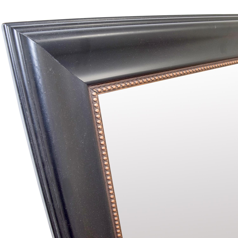 60% OFF - HomeGoods HomeGoods Black and Gold Beveled Mirror / Decor