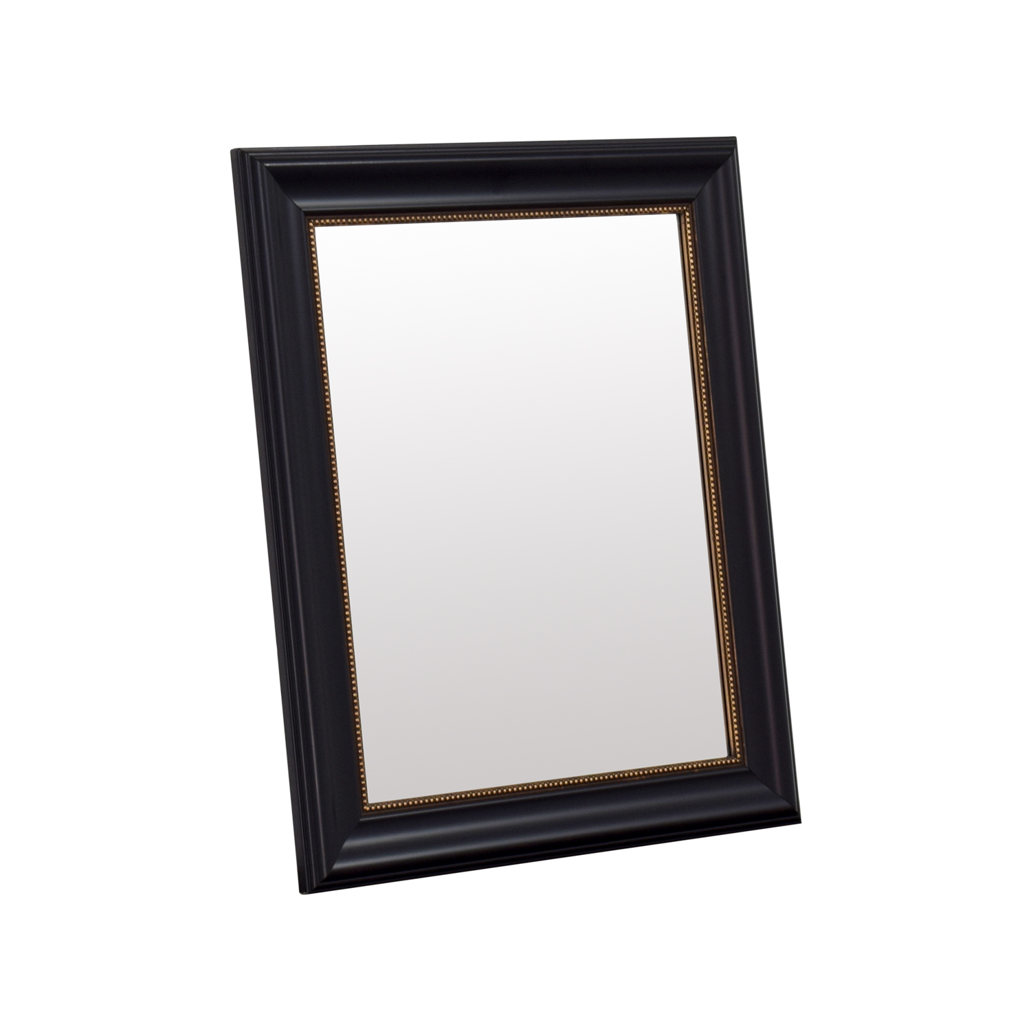 HomeGoods HomeGoods Black and Gold Beveled Mirror Black