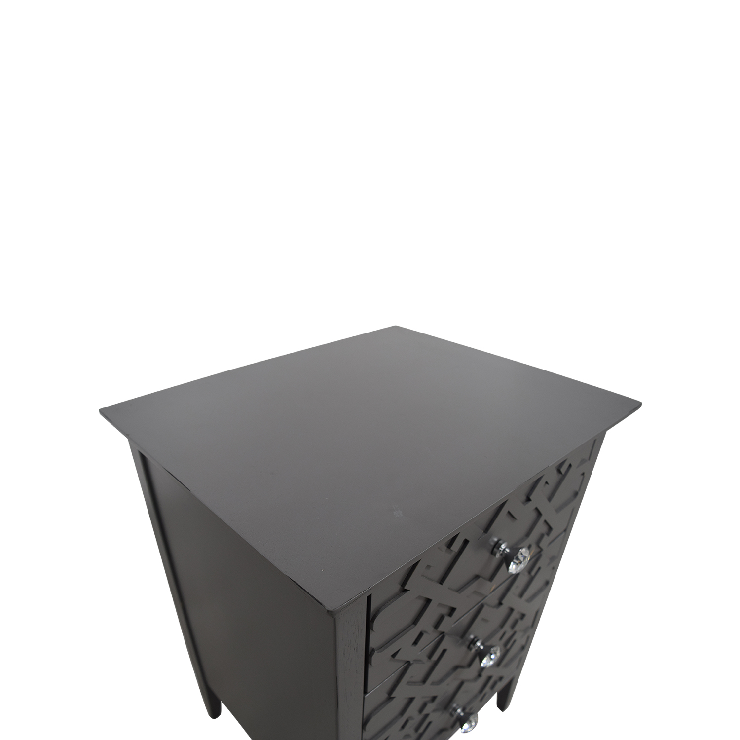 Target Target Grey Three-Drawer Carved Nightstand Tables