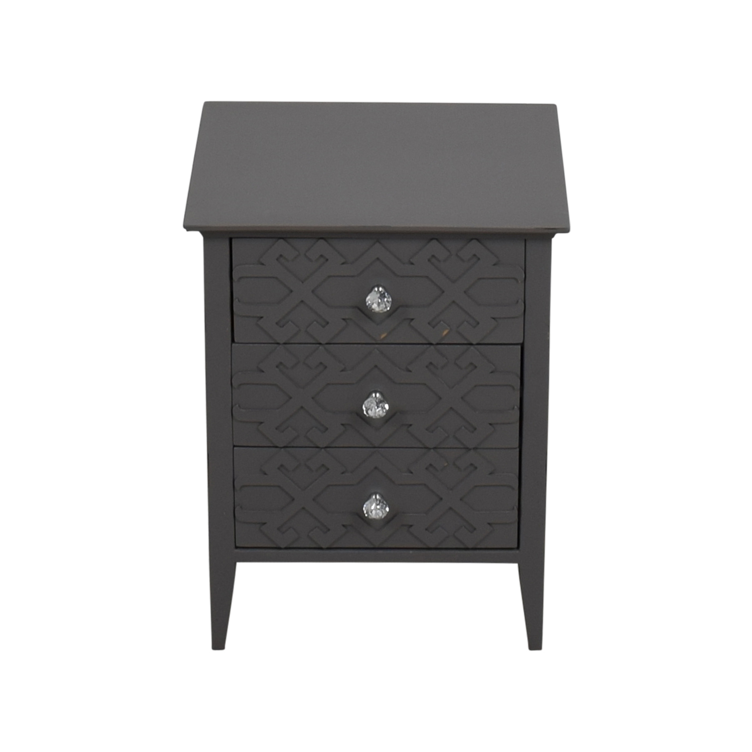 shop Target Grey Three-Drawer Carved Nightstand Target Tables