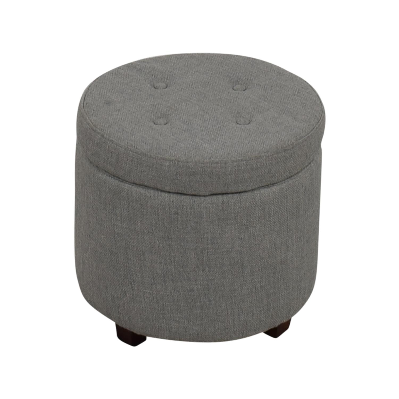 Target Grey Tufted Storage Ottoman / Storage  sc 1 st  Furnishare & 68% OFF - Pair of White Leather Ottoman Cubes / Storage