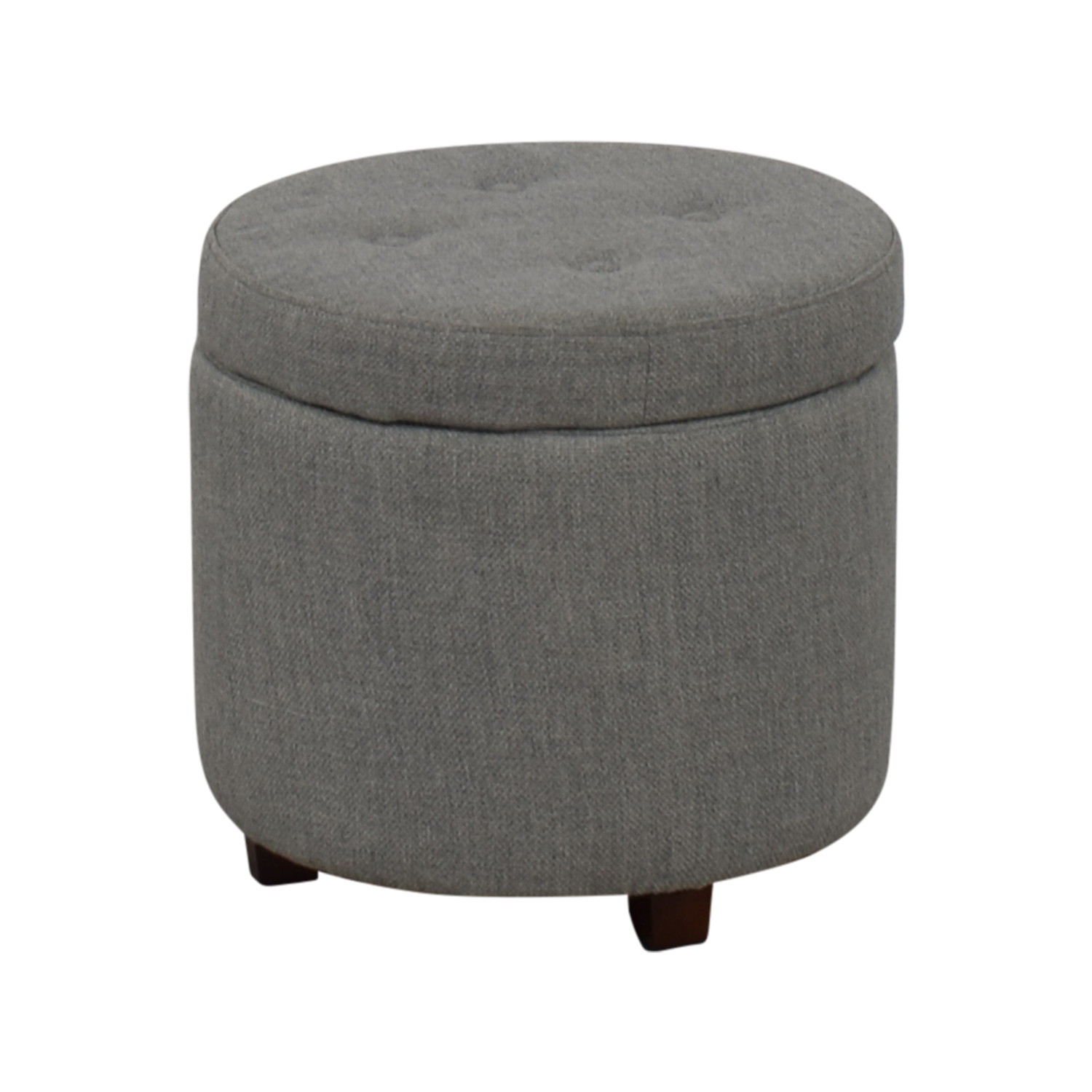 42 Off Target Target Grey Tufted Storage Ottoman Storage