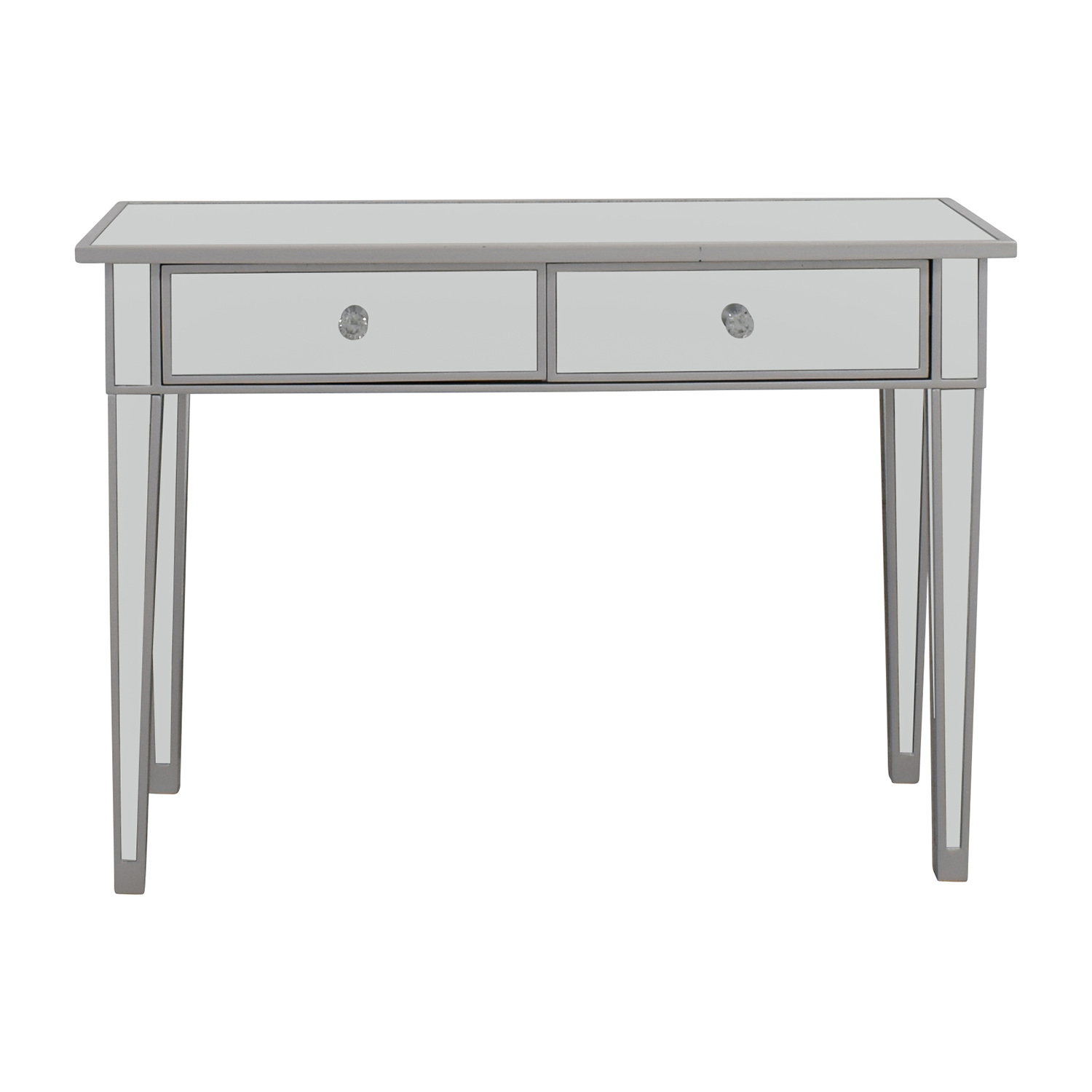Wayfair Wayfair Two-Drawer Mirrored Vanity dimensions