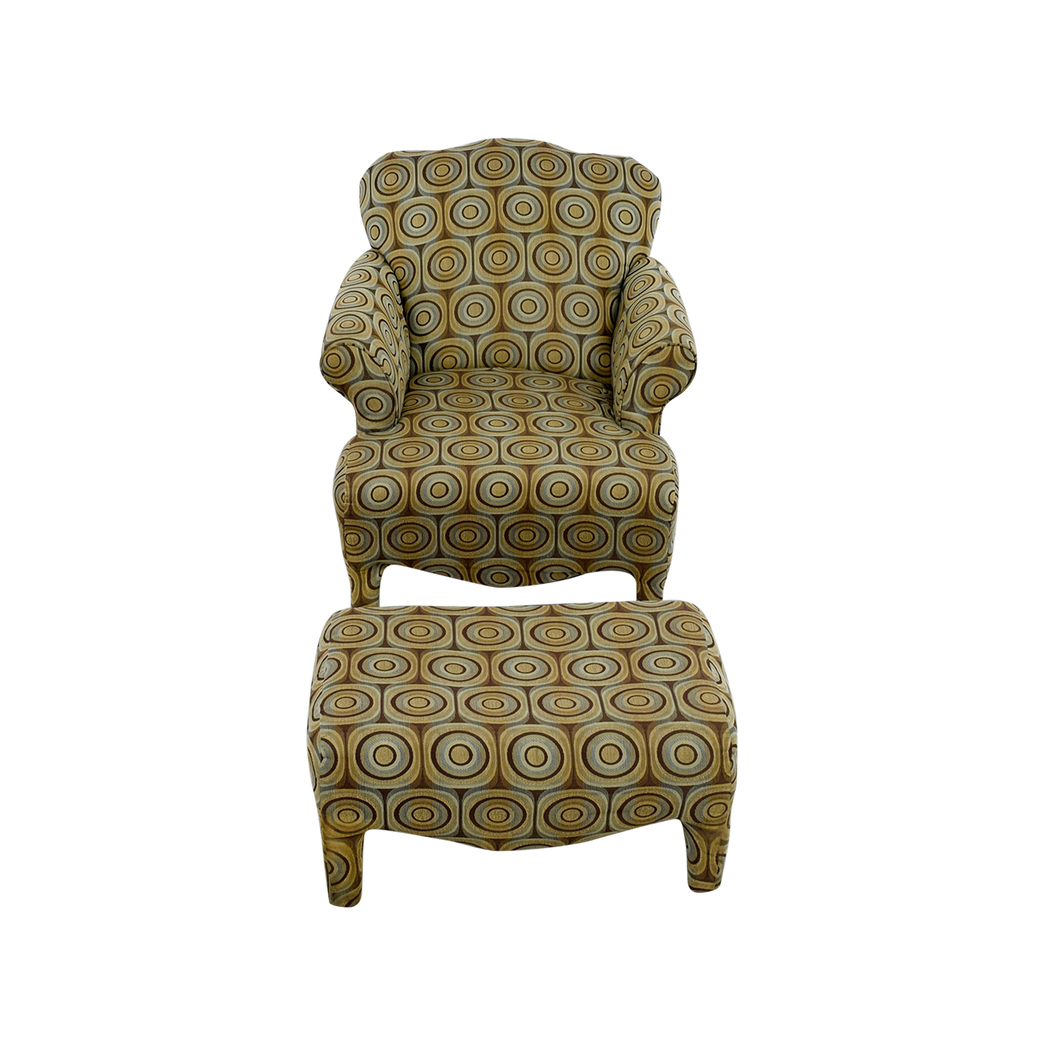 Bobs Furniture Chair and Ottoman sale