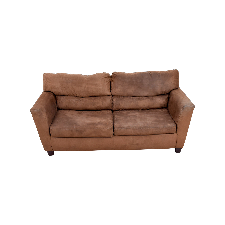 Bobs Furniture Bobs Furniture Brown Two-Cushion Sofa coupon