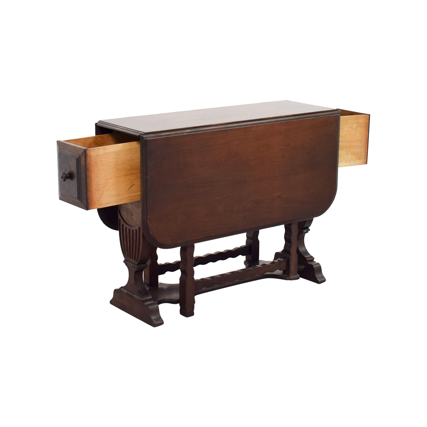 1950s Drop Leaf Table with Drawers sale