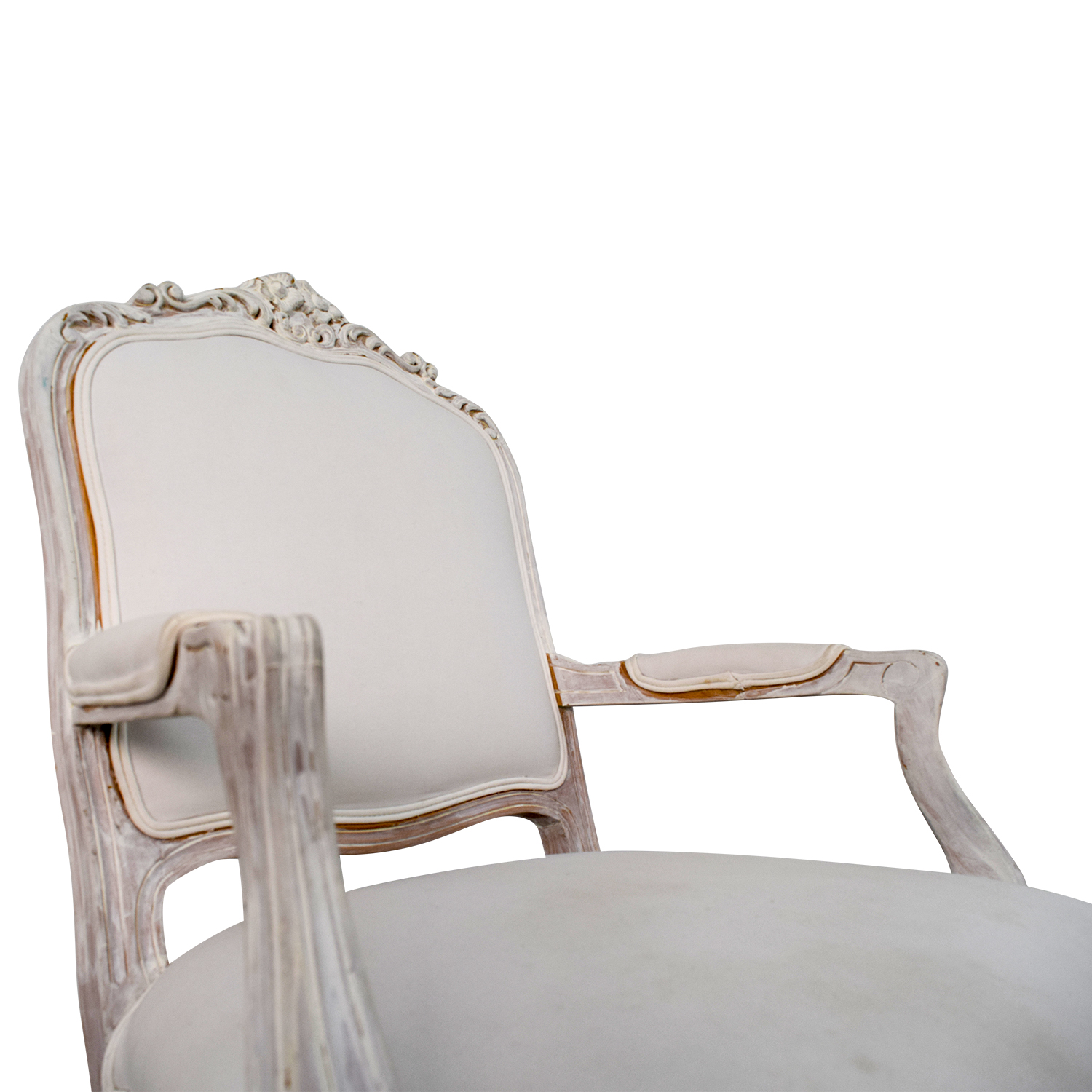 47 Off Antique Chippendale White Chair Chairs