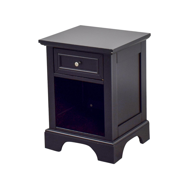 50 off single drawer black side table tables for Black side table