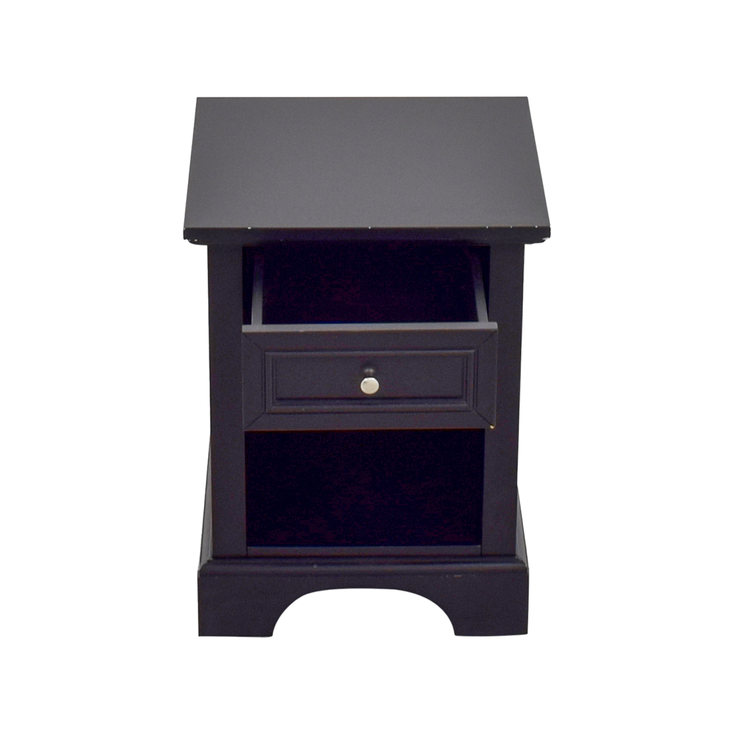 Single Drawer Black Side Table second hand