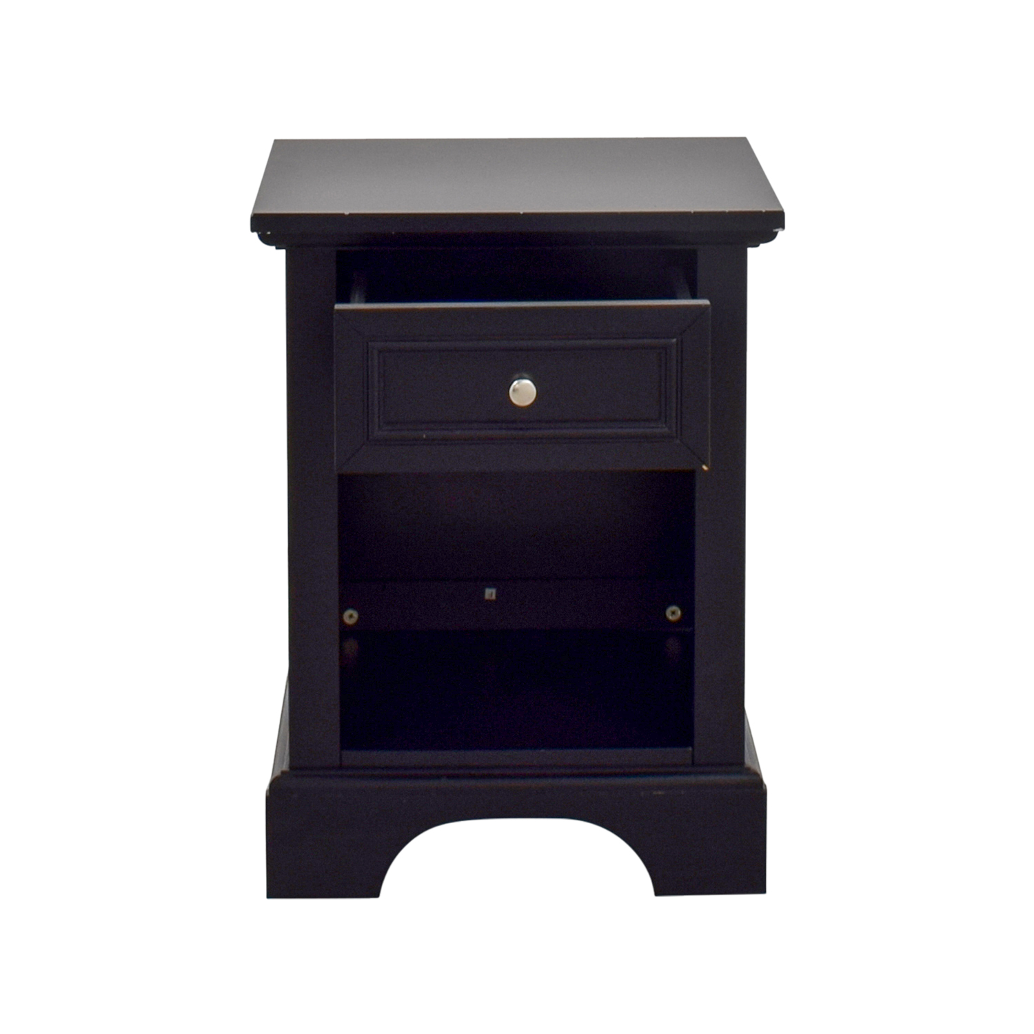Single Drawer Black Side Table Tables