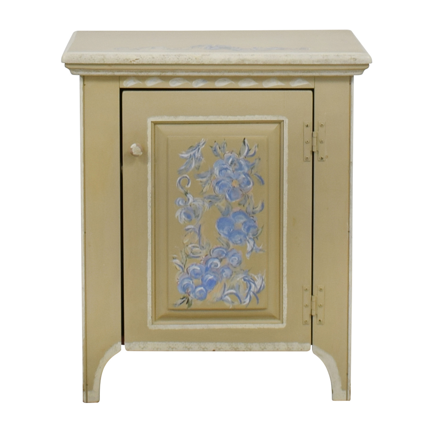Stencil Painted Side Table Tables