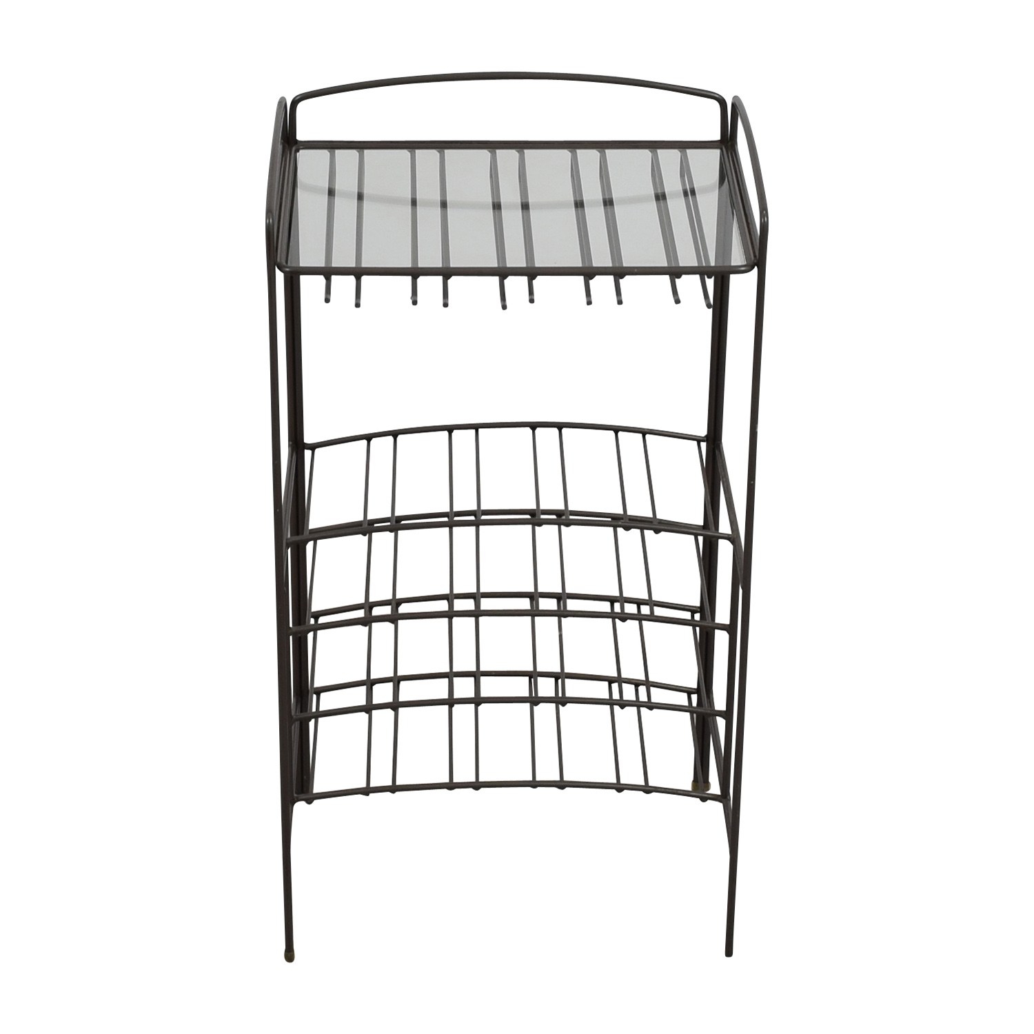 Glass and Metal Wine Rack Tables