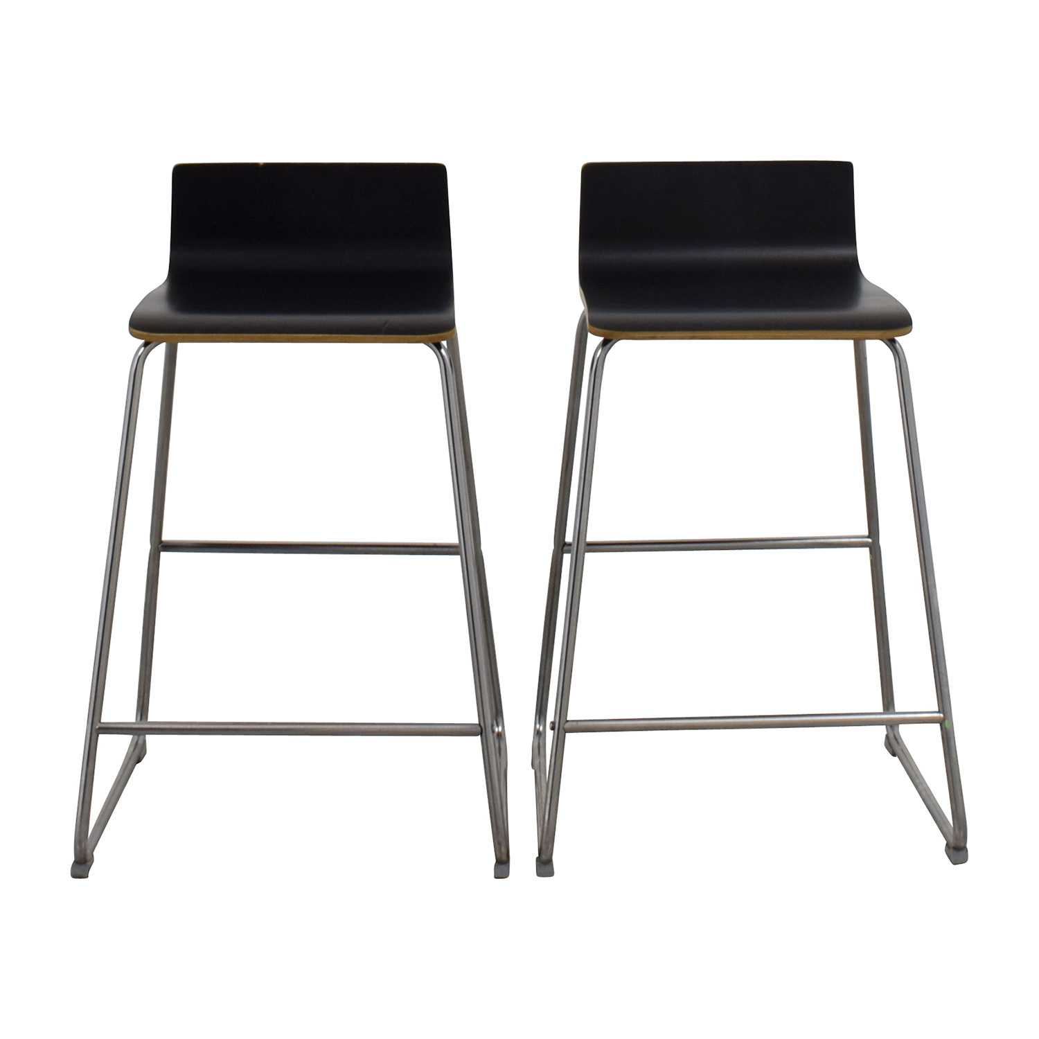 Miraculous 88 Off Ikea Ikea Wood Bar Stools Chairs Ncnpc Chair Design For Home Ncnpcorg