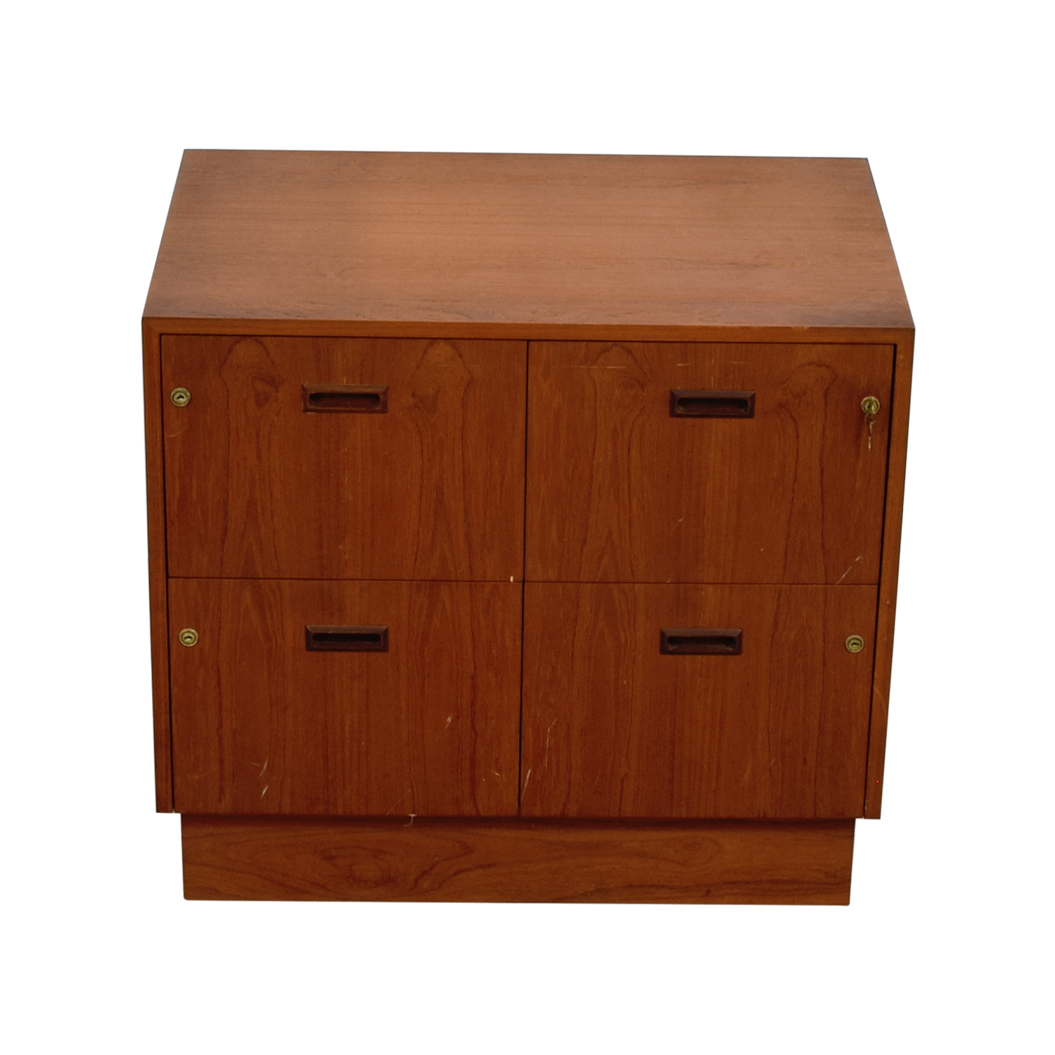 Three-Drawer Four Space Wood File Cabinet dimensions
