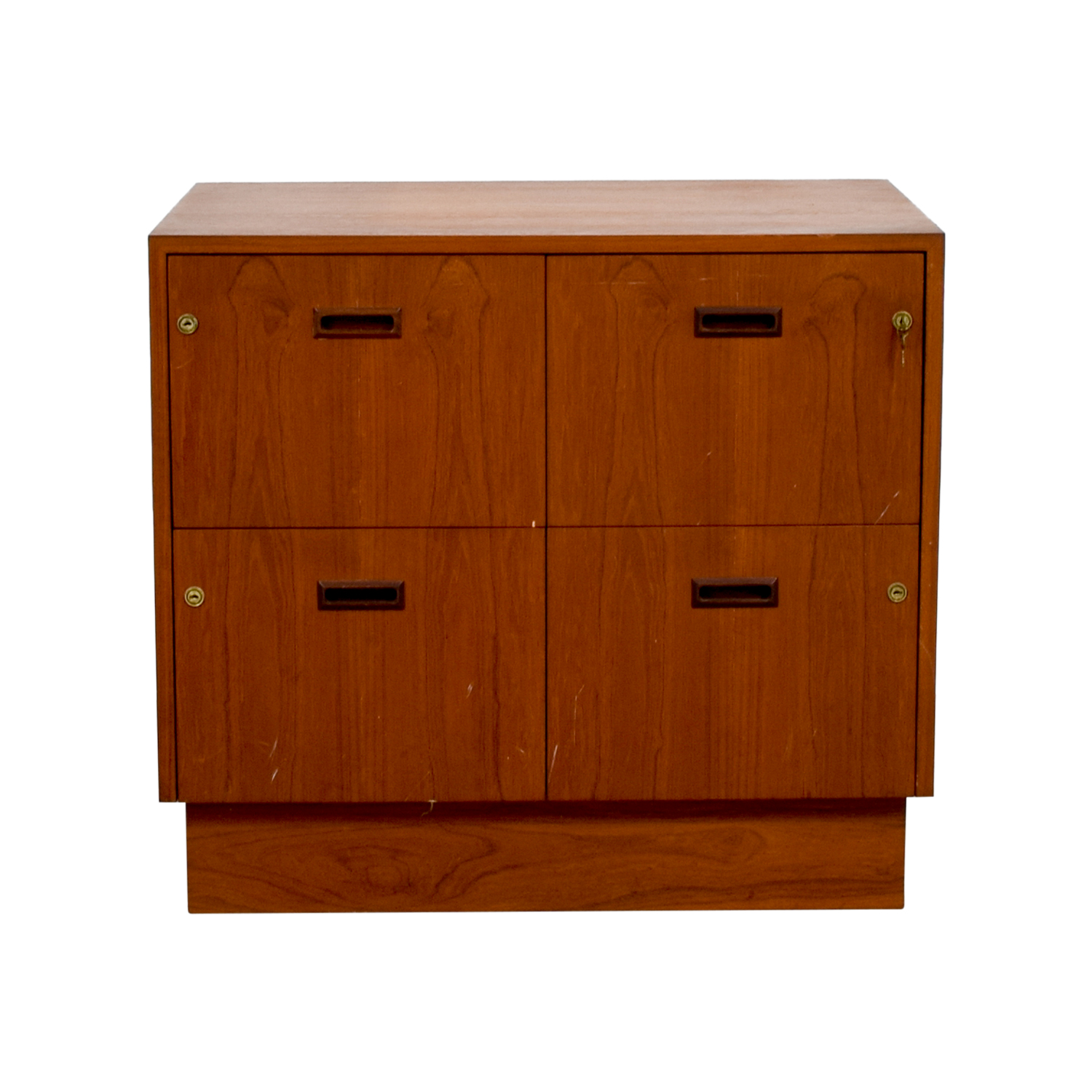Three-Drawer Four Space Wood File Cabinet on sale