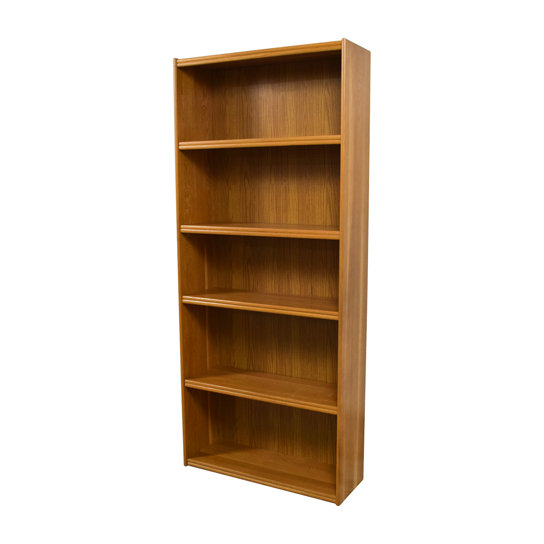 46 Off Tall Five Shelf Bookshelf Storage