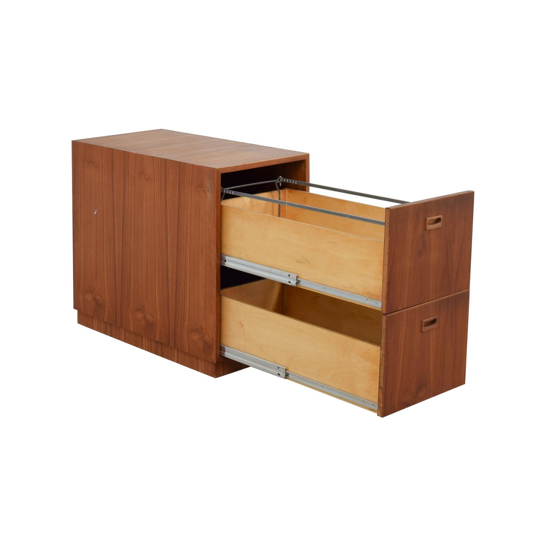 Off wood file cabinet storage