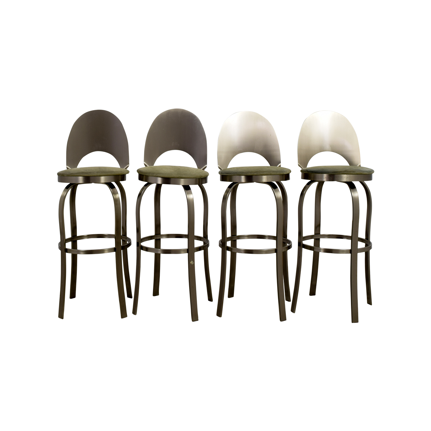 Bar Stools with Green Cushions Stools