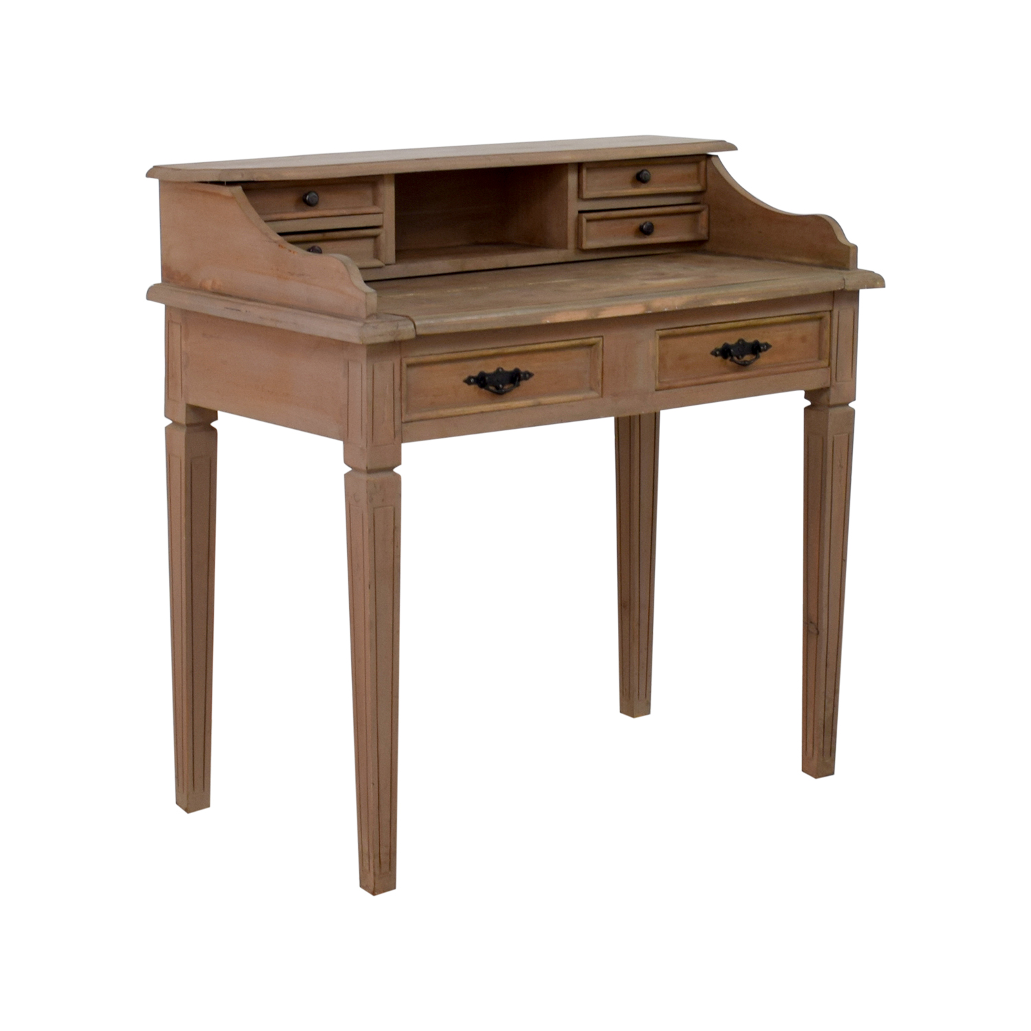 Wooden Desk With Small Hutch / Tables