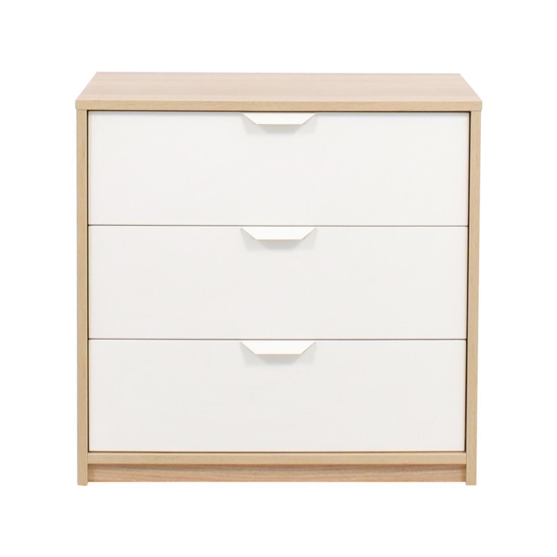 Ikea White Wood Dresser Wooden