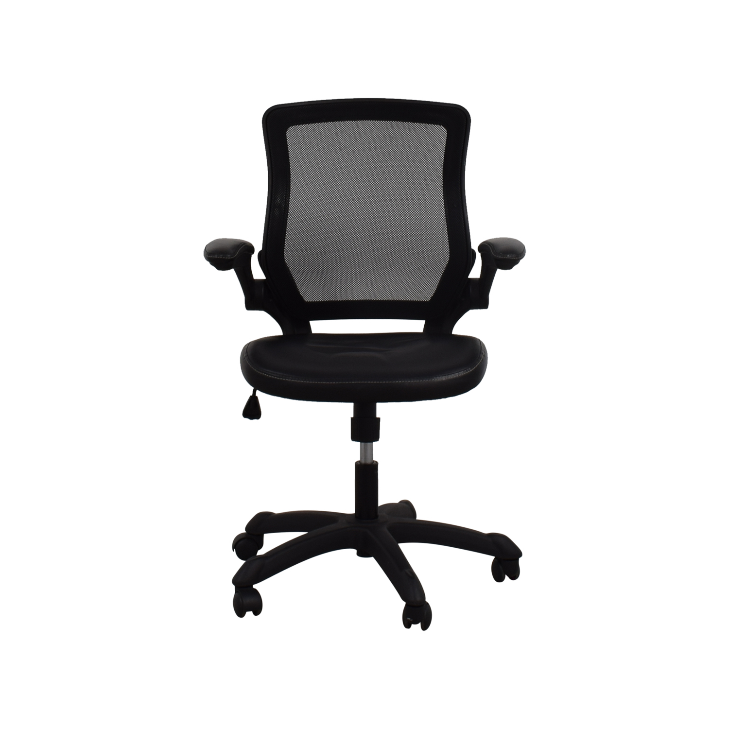 Adjustable Black Office Arm Chair used