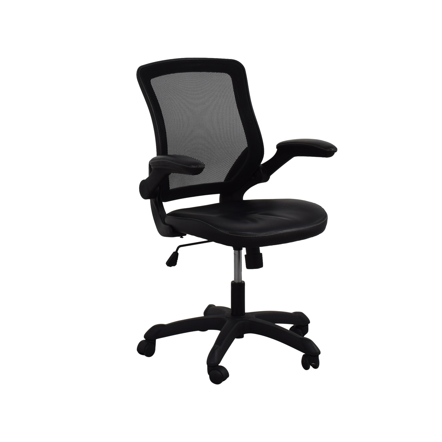 72% OFF - Adjustable Black Office Arm Chair / Chairs