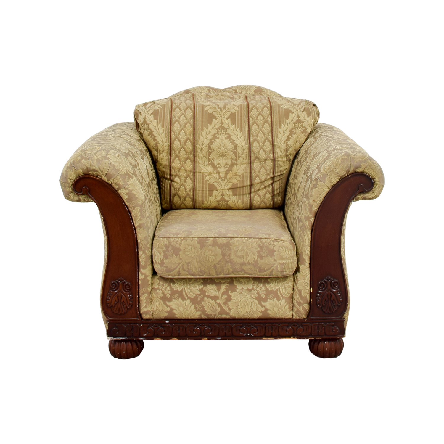 Picture of: 71 Off Green Upholstered Accent Chair Chairs