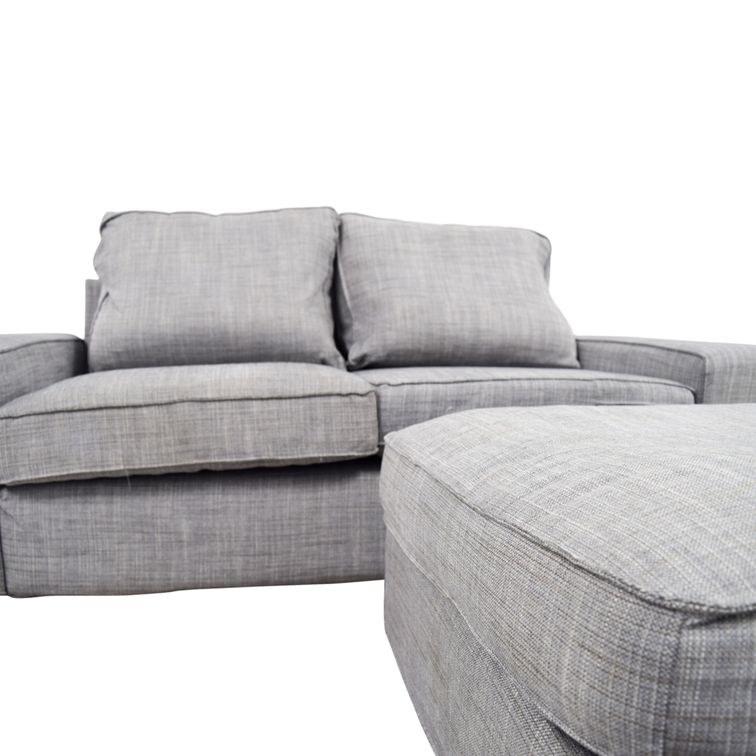 Off Ikea Kivik Gray Sofa And Ottoman Sofas