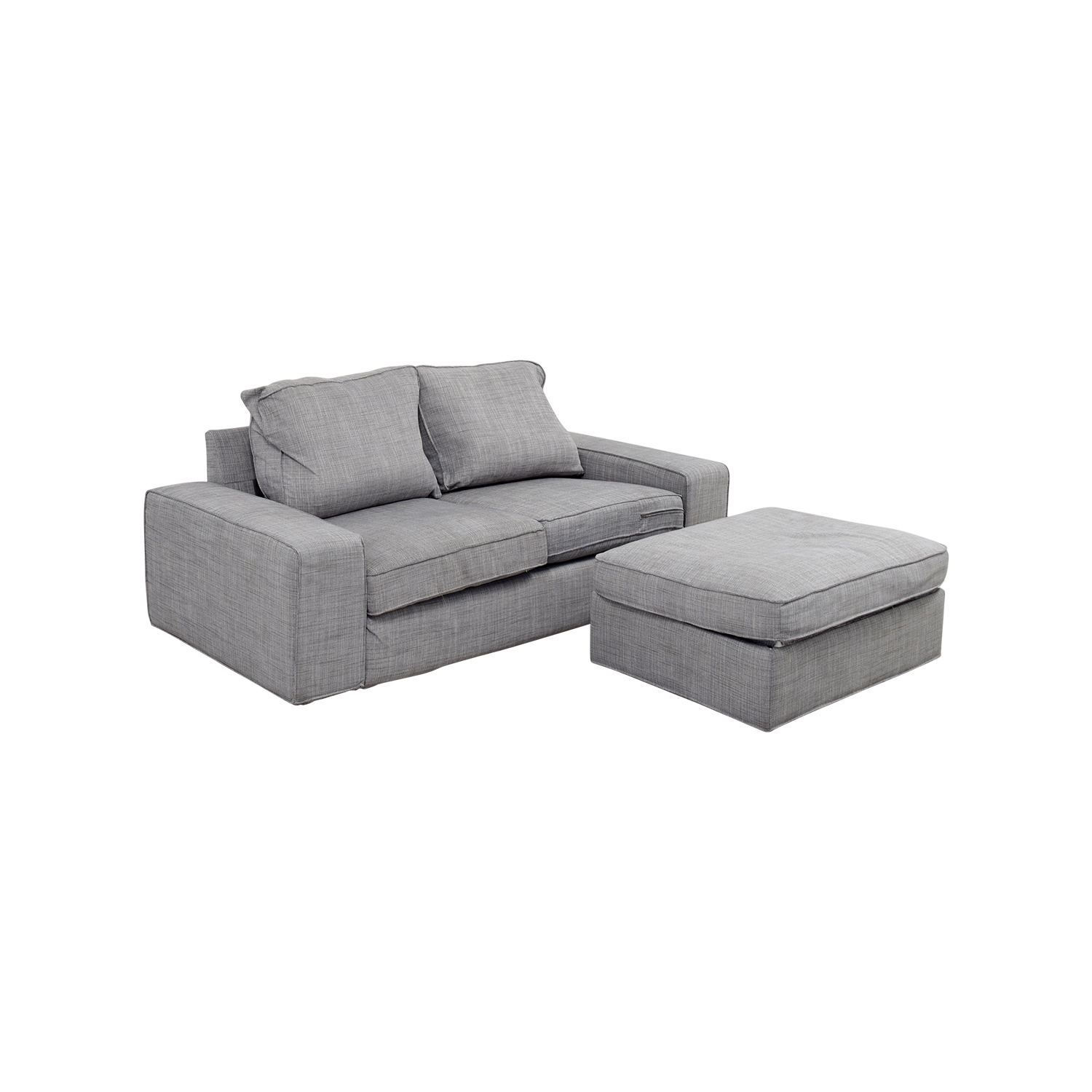 64 Off Ikea Ikea Kivik Gray Sofa And Ottoman Sofas