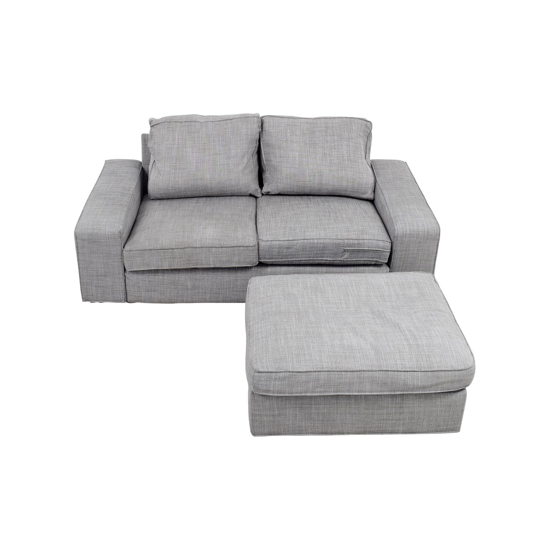 64% OFF   IKEA IKEA Kivik Gray Sofa And Ottoman / Sofas