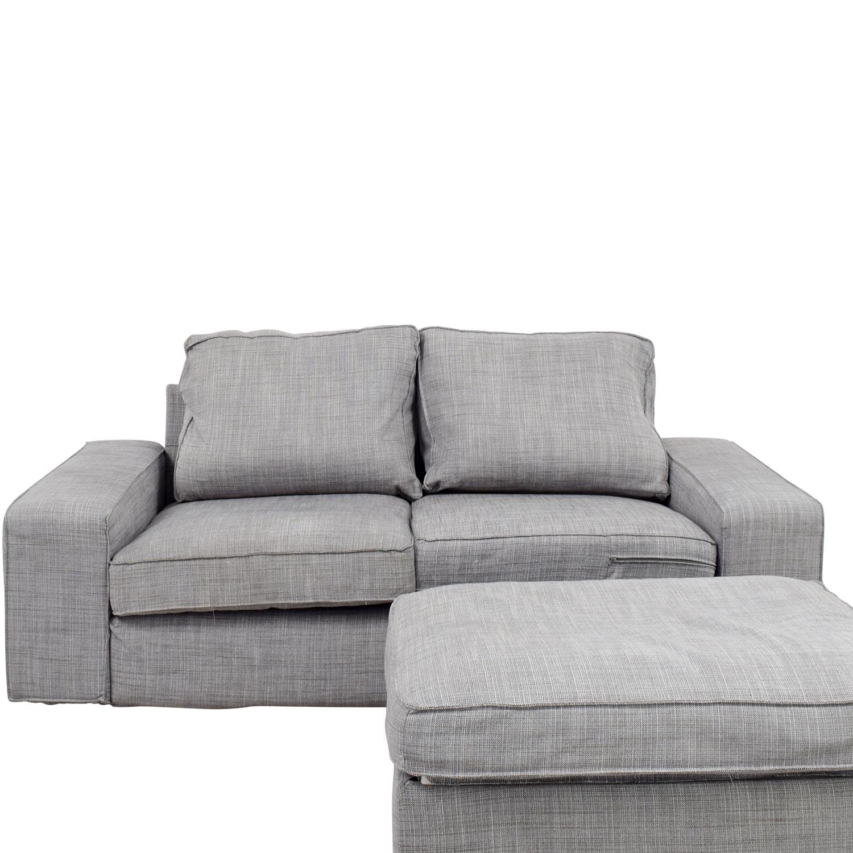 Ikea Kivik Gray Sofa And Ottoman