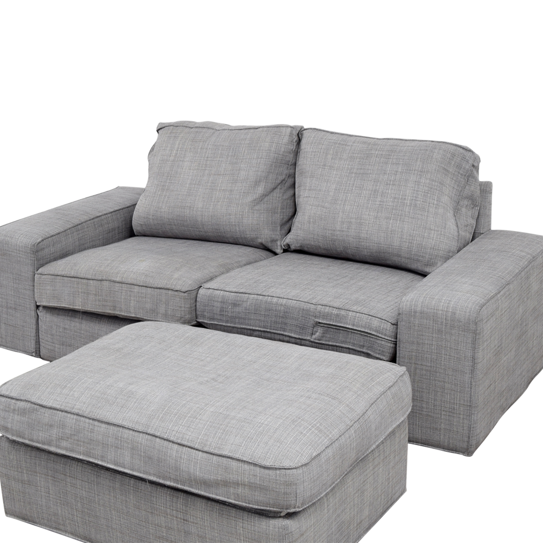 Incredible 64 Off Ikea Ikea Kivik Gray Sofa And Ottoman Sofas Pabps2019 Chair Design Images Pabps2019Com