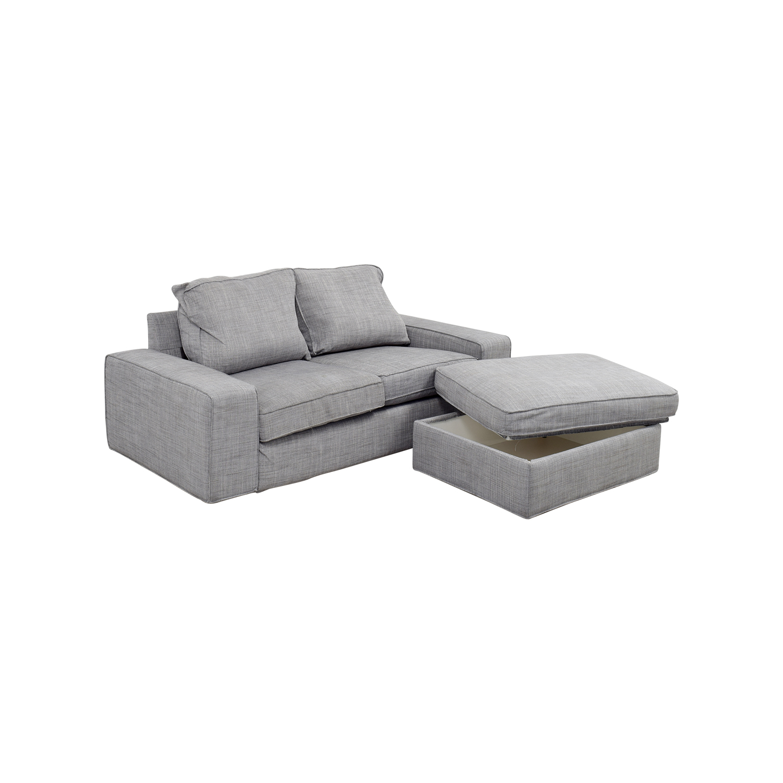 ... Buy IKEA IKEA Kivik Gray Sofa And Ottoman Online ...