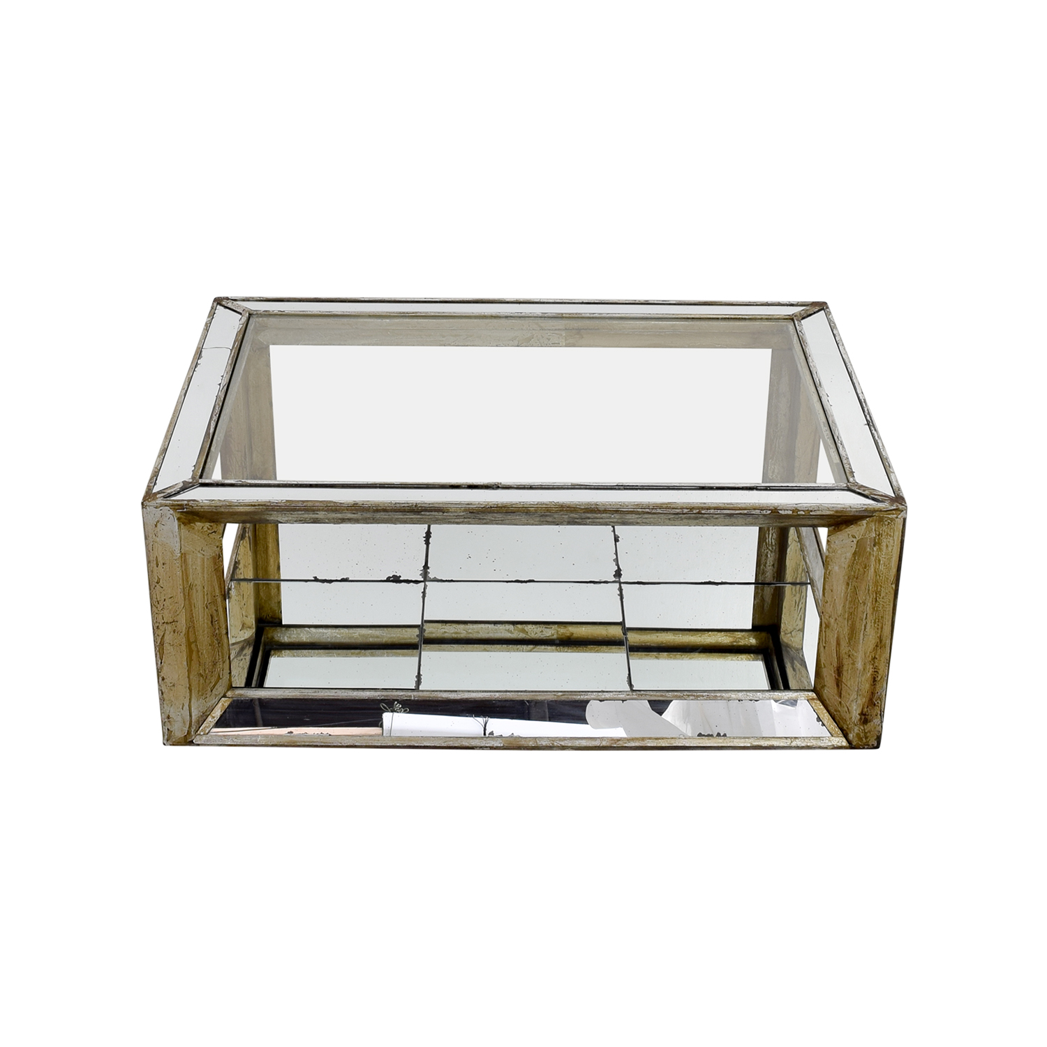 shop Houston Furniture Mirror and Glass Coffee Table Houston Furniture Tables