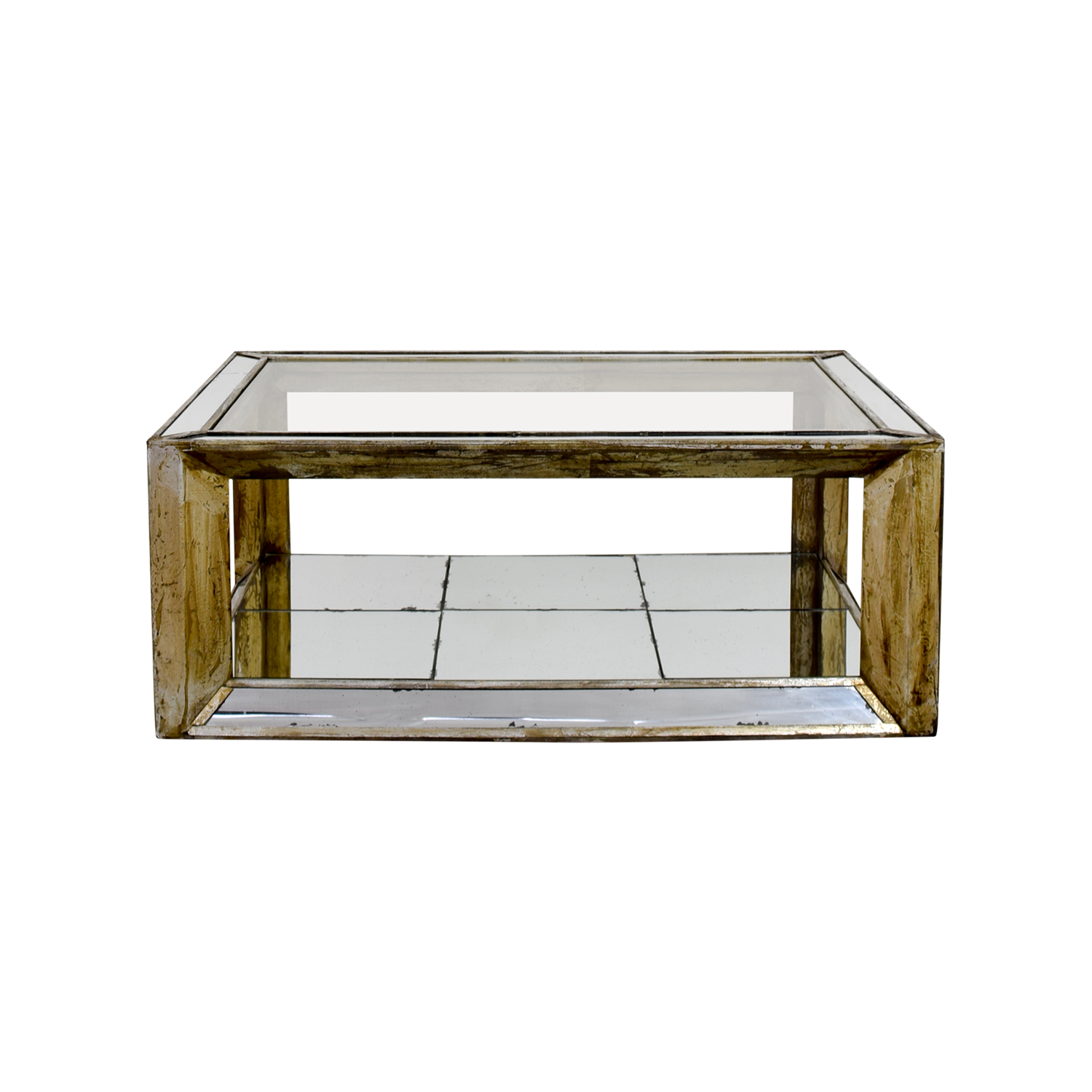 Houston Furniture Houston Furniture Mirror and Glass Coffee Table used